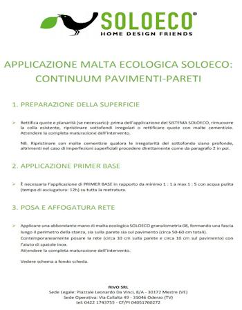 Applicazione Continuum Pavimenti Pareti