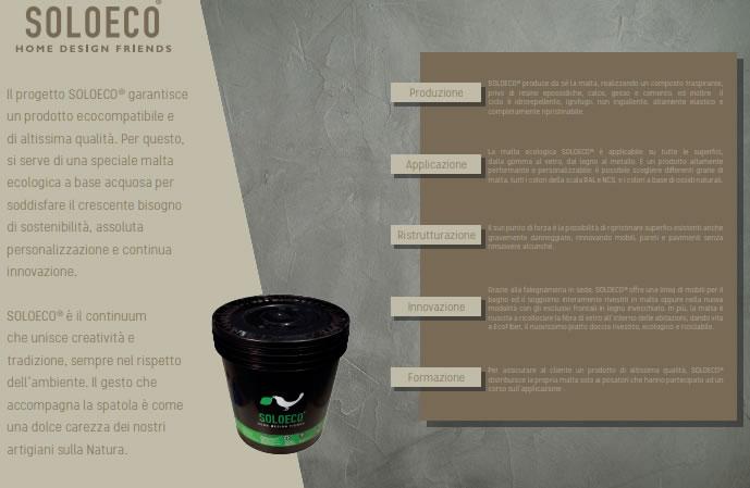 Soloeco prodotti in malta ecologica